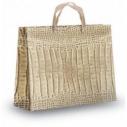 Bolsa de lujo Koko 41x14x32. Elegantísima bolsa de regalo en tonos arena