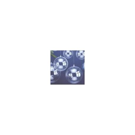 100 Bolas / cajas de regalo transparentes. 5 y 8 cms
