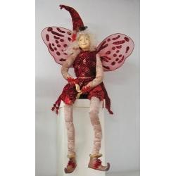 Hada de navidad, de color rojo, H. 1 m
