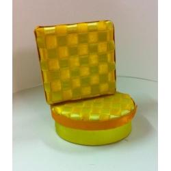 4 Cajas de regalo cuadro amarillo 11.5x8.5x3.5 Mods stdos.