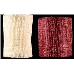 4 rollos de Cinta ábaca/sinamay 7.5 cms x 5 m. Varios colores