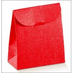 Caja de regalo con solapa, rojo 11.5x18x5.5 C/200 uds.