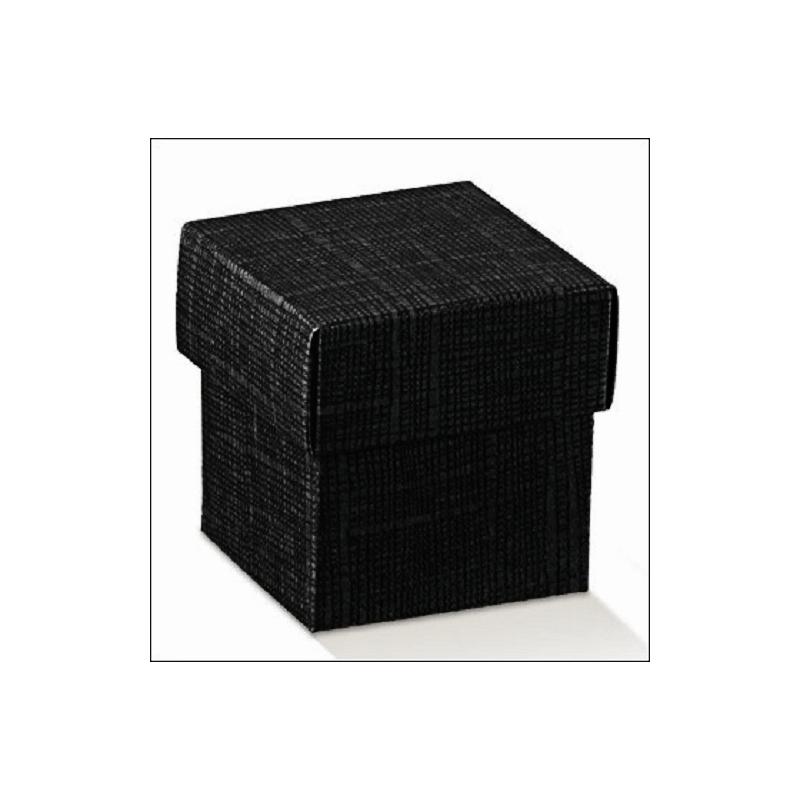 Caja de regalo de cartón en color negro. Mod. fondo+tapa, 5x5x5 cms ...