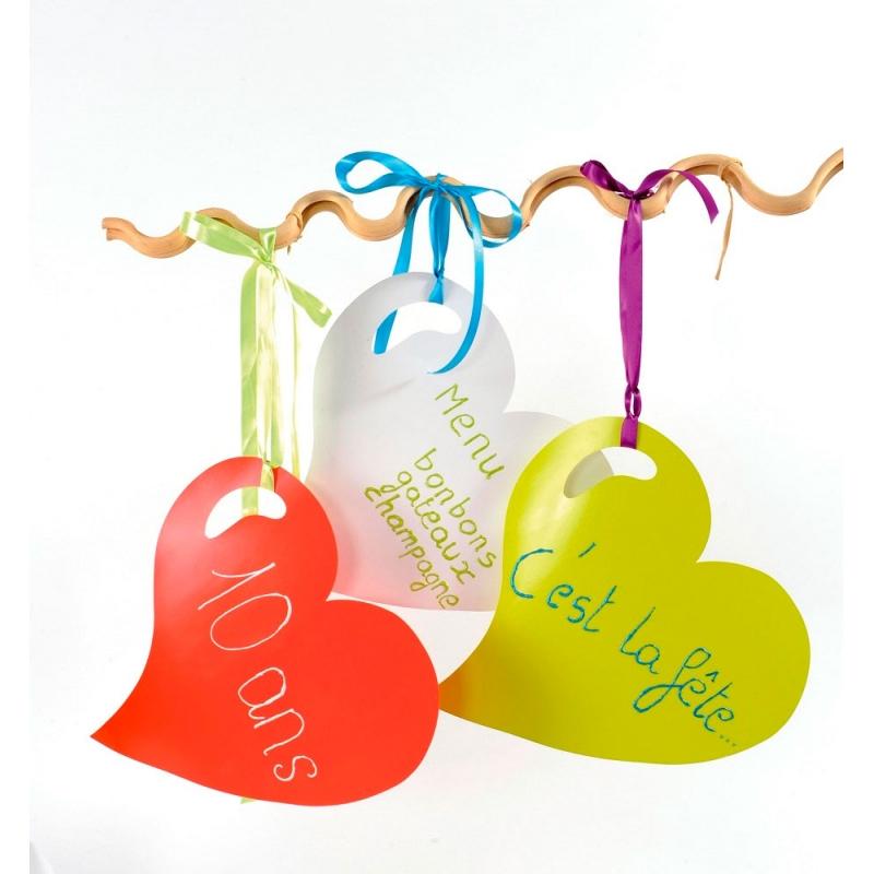Corazón de cartón 38x38 cms. Varios colores