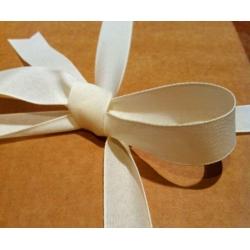 40 m. de Cinta de regalo en algodón color marfil. Varios anchos