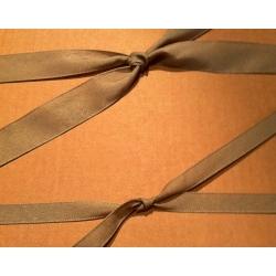 40 m. de Cinta de regalo en algodón color arena. Varios anchos