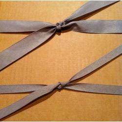40 m de Cinta de regalo en algodón color gris. Varios anchos