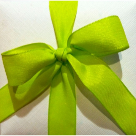 40 m de Cinta de regalo en algodón color pistacho. Varios anchos