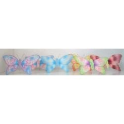 6 Mariposas surtidas 21x18 cms