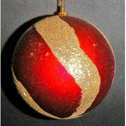 12 Bolas rojo/oro 10 cms.