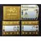 Etiqueta adhesiva blanca con stamping oro. Caja de 6 rollos x 40 uds.
