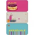 Etiqueta adhesiva pastel, regalos, velas. 10 blisters x 9 uds.