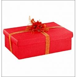 50 Cajas de regalo de cartón en color rojo. Mod. fondo+tapa, 16.5x11x4 cms