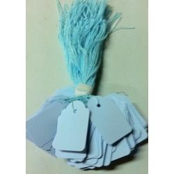 Etiquetas colgantes. Color azul. C/100 uds