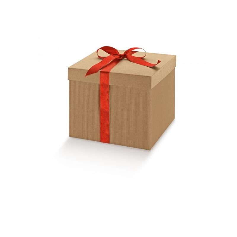 Caja de regalo micro canal natural 25x25x15 cms c 3 uds for Cajas personalizadas con fotos