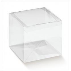 200 Cajas de regalo transparentes 10X10X8 cms.