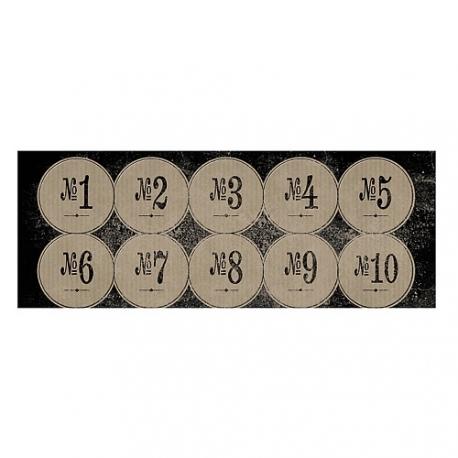 Pegatinas números vintage. AGOTADO TEMPORALMENTE