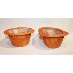 6 cestos / maceteros ábaca naranja