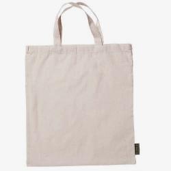 Bolsa de algodón con asa de mano. 37x41 cms