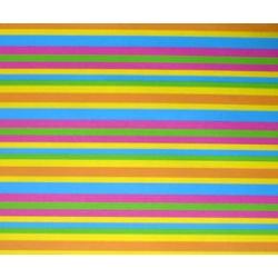 Bobina de papel de regalo, rayas de colores 70x100
