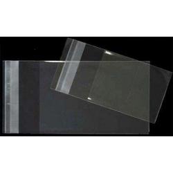 1000 Bolsas 15x22 cms, tipo celofán, transparentes, cierre adhesivo