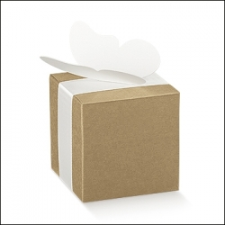 200 Cajas de regalo kraft 6X6X6 cms.