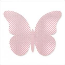 60 Mariposas lunares, rosa. Tamaños surtidos