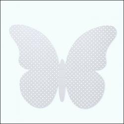 60 Mariposas lunares, gris. Tamaños surtidos