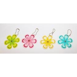 72 LLaveros flor. Colores surtidos