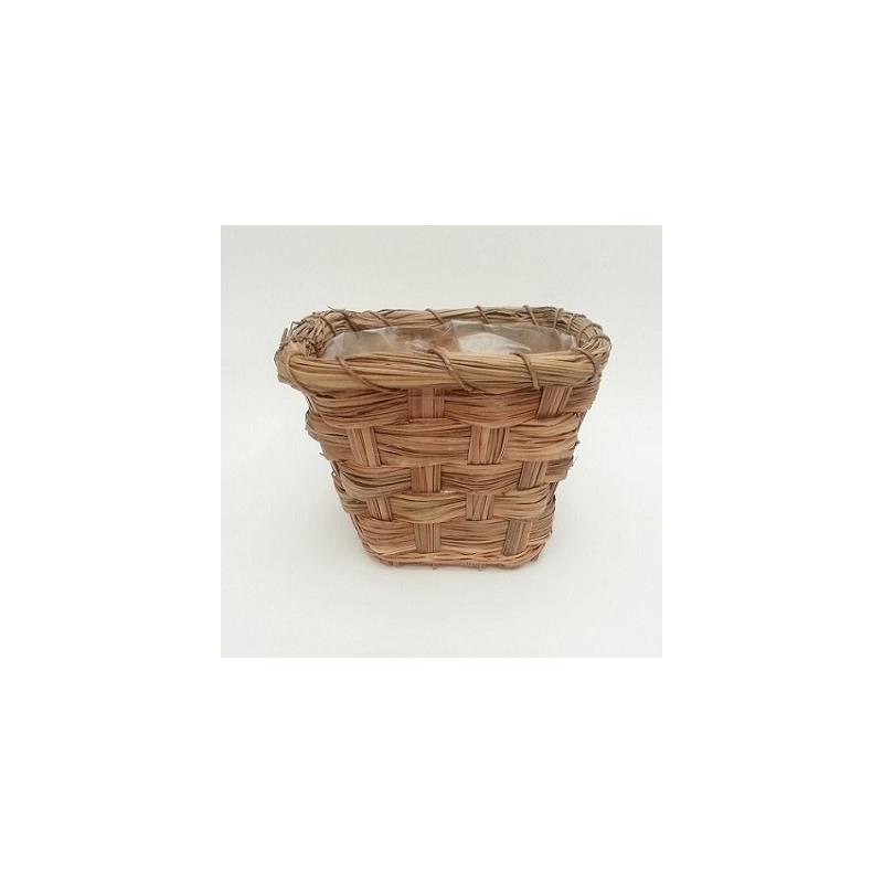 12 cestas macetero cuadradas de mimbre natural - Maceteros de mimbre ...