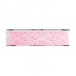 Cinta de regalo puntilla, rosa, 25 mm x 16 m