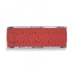 Cinta de regalo puntilla,rojo,, 25 mm x 16 m