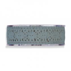 Cinta de regalo puntilla,azul plomo,25 mm x 16 m