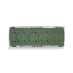 Cinta de regalo puntilla,verde inglés,,25 mm x 16 m