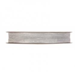 Cinta de regalo, lino gris perla12 mm x 40 m
