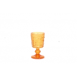 12 Porta velas, copa naranja cobrizo
