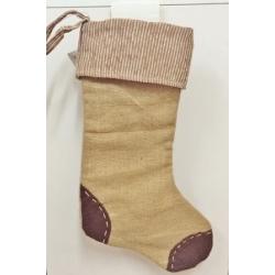9 Calcetines-bota de Navidad, rústicos. Color surtido
