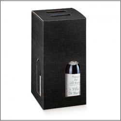 20 Cajas para 4 botellas, negro.