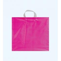 100 Bolsas de plástico fucisa transparente, asa flexible 50x55x+5