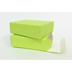 100 Cajas carton color pistacho, 8.2x6x2.5 cms