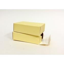 100 Cajas carton color amarilla 8.2x6x2.5 cms