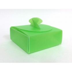 50 Cajas plásticos rígido color verde, 8x8x3cms