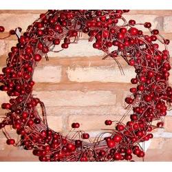 2 coronas de navidad con berries rojos 35 cms agotado