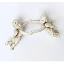12 aros con angelitos parabotellas / servilletero