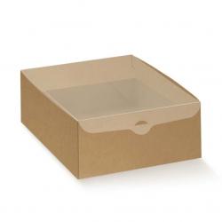 50 Cajas de regalo, tapa transparente 15x10x8 cms.