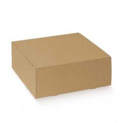25 Cajas de regalo kraft liso natural 31x31x11 cms.