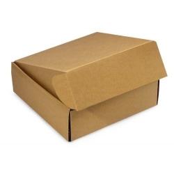 50 Cajas de cartón kraft 20.5x16x8 cms, para envío postal - e.commerce.