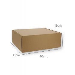 25 Cajas de cartón kraft 40x35x15 cms, para envío postal - e.commerce.