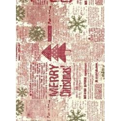 Bobina de papel de regalo, Merry Christmas
