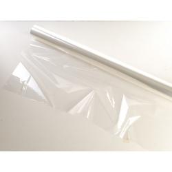 Bobina poli. transparente, tipo celofán. 80 cms x 50 m